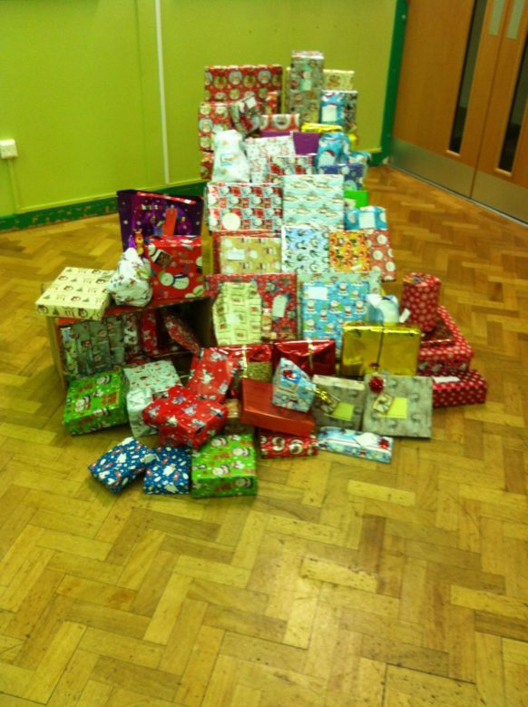 Christmas presents for disadvantaged kids in our area 2