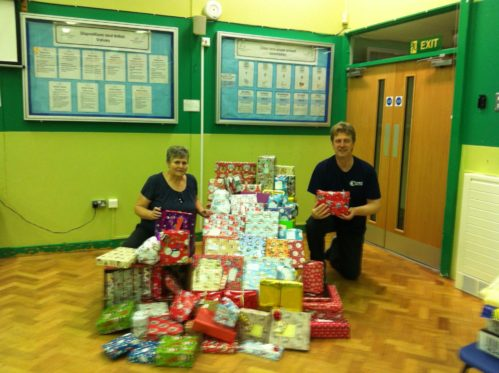 Charity christmas collection for St Vincent de Paul Society.